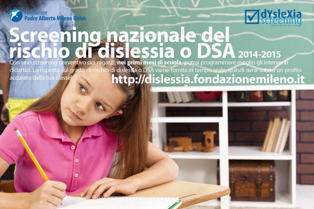 Screening del rischio di dislessia e DSA